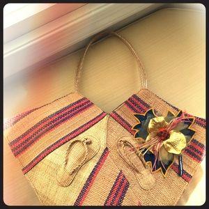 Handbags - Raffia made African bag
